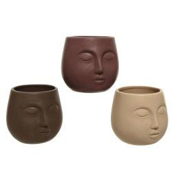 EKA - Cache-pot Porcelaine Ass. D11,4 x H10,3 cm par 3