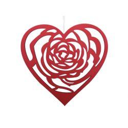 CORA - Cœur en mousse Suspendu Rouge L30 x H30 cm