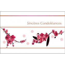 Carte Voeux Doubles Tendresse par 10 Sincères Condoléances