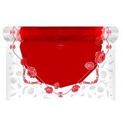 AUDREY - Bulle carré Rouge 0.80 x 40 m