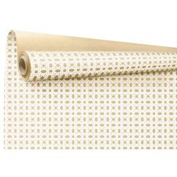 CANAGE - Kraft Naturel motifs blancs 0.79 x 40 m