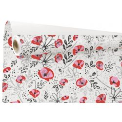 LILOU - Kraft Blanc motifs rouges 0.79 x 40 m
