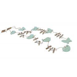 BUTTERFLY - Guirlandes Papillons Bleu L90 x H7 cm par 2