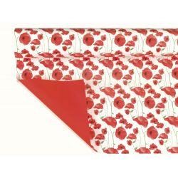 PAPAVERO - Opaline coquelicots Rouge 0,80 x 40 m