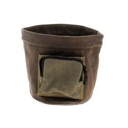 TIS - Cache-pot Tissu Marron D20 x H20 cm