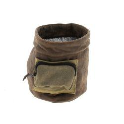 TIS - Cache-pot Tissu Marron D15 x H15 cm