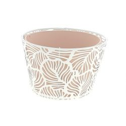 CORAIL - Support + Coupe Zinc Rose D15 x H10 cm