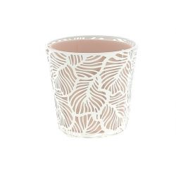CORAIL - Support + Cache-pot Zinc Rose D13 x H13 cm