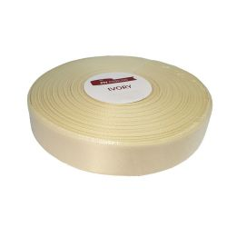 SATIN - Ruban Satin 10mm x 30m Ivoire