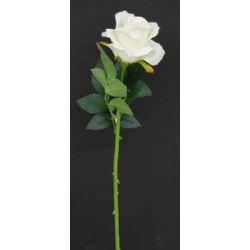 Fleur sur tige Rose Crème H69 cm