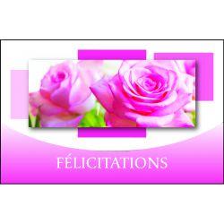 Carte Voeux Doubles Tendresse par 10 Félicitations