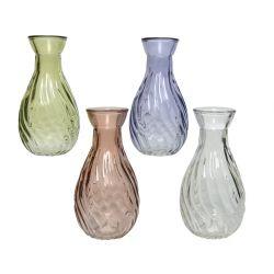 LUCY - Vase Verre Ass. D5,5 x H10 cm par 4