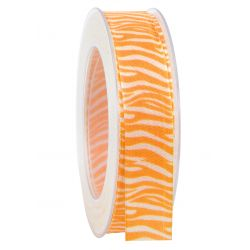 SAFARI - Ruban imprimé Orange 25 mm x 20 m
