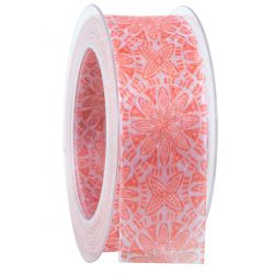 PERSIEN - Ruban tissu imprimé Orange 40 mm x 20 m