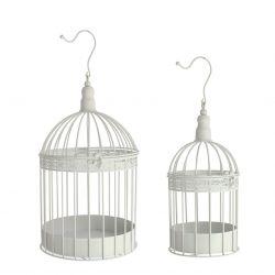 Cage à oiseaux pour plantes Blanc H24 x D14 cm par 2