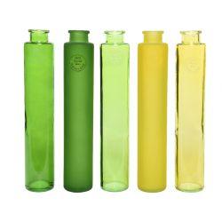 LEMON - Vases colorés Verre recyclé Assortis D7 x H24 cm par 5