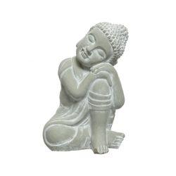 BOUDDHA - Bouddha assis Beton Gris L20 x P17 x H30cm