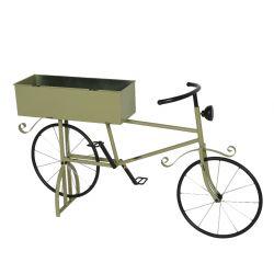 BIKE - Vélo avec jardinière Fer Vert L34 x P7 x H22.5cm