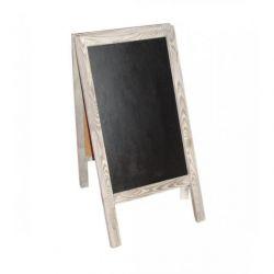 Tableau bois + ardoise  L73 x H120 cm