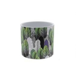 JUNGLE - Cache-pot Feuille D16 x H15,5 cm