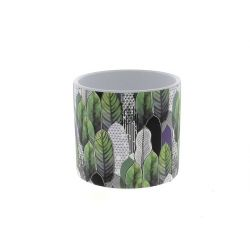 JUNGLE - Cache-pot Feuille D13,8 x H12,5 cm