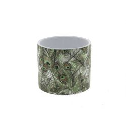 JUNGLE - Cache-pot Paon D12 x H10,5 cm