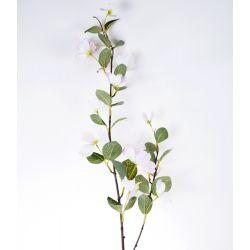 Fleur sur tige Cornouiller Crème/Rose H103 cm