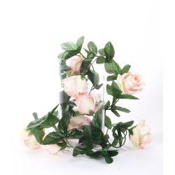 Guirlande de Rose et Gypso Assorties 9 fleurs L180 cm par 3