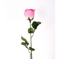 Bouton de rose Rose 2 feuilles H66 cm