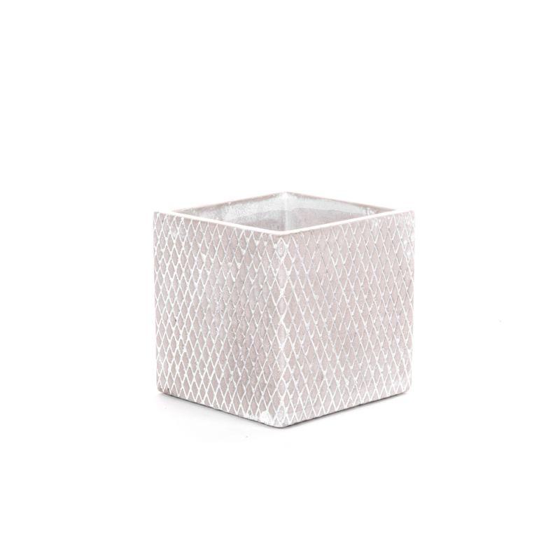 CIM - Ciment Cache-pot Gris L10,5 x P10,5 x H10,5 cm