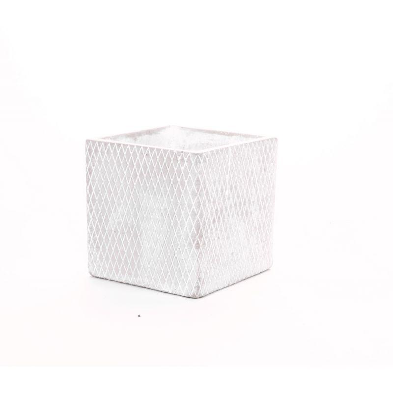 CIM - Ciment Cache-pot Gris L12 x P12 x H12 cm