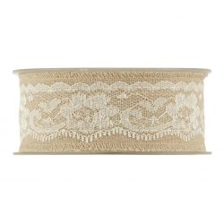 OLD TIME - Ruban Cotton dentelle large 40 mm x 10 m