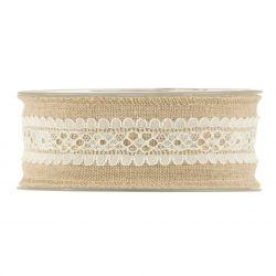 OLD TIME - Ruban Cotton dentelle fine 40 mm x 10 m