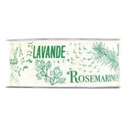 AROMATIC - Ruban Tissu motifs verts 40 mm x 15 m