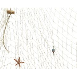 FILET - Filet suspendu Coton Naturel  L150 x H200 cm