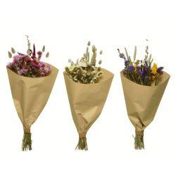 Bouquets de fleurs sechées ass.  D20 x H55 cm  Par 2