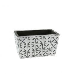 SPRING - Jardinière Céramique Blanche L17 x P10 x H9 cm par 6