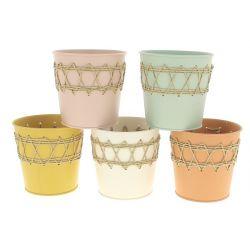 COTA - Zinc Cache-pots Ass. D13 x H12,5 cm par 12
