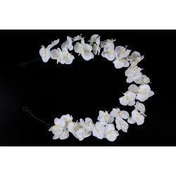 ORCHI - Couronne d'Orchidées blanches 150cm 35 fleurs