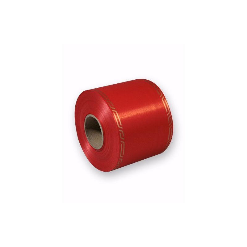 Ruban Deuil Cérémony Rouge 75mm x 46m