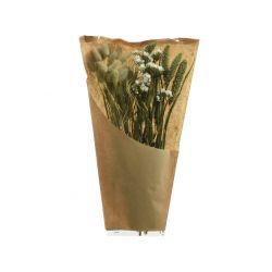 Fleurs séchées Bouquet Lagurus, Limonium H45 cm
