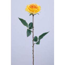 ROSA - Rose Ancienne 2 feuilles H68 cm Jaune