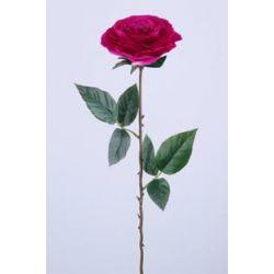ROSA - Rose Ancienne 2 feuilles H68 cm Beauty