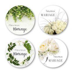 MARIAGE - Etiquettes Voeux Assort. par 500 Mariage
