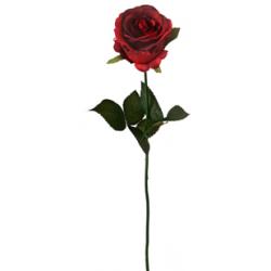 Rose sur tige Rouge H58 cm