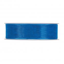 Ruban Organza 25mmx50m Bleu...