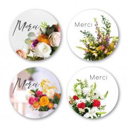 MERCI- Etiquettes Voeux...