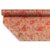 REGINA- Papier kraft Motifs florales Rouge 0,80x40m