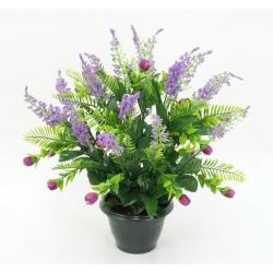 Pot de bruyère, mini fleurs...