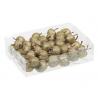 GLITTERSTAR - Pommes Plastique Or  25/35 cm par 48